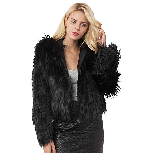Misaky Women Coat Casual Warm Faux Fur Jacket Winter, used for sale  Delivered anywhere in USA