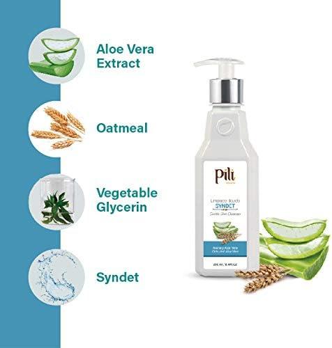 Pili Natural Syndet – Limpiador de piel suave con avena y aloe vera – Limpiador hipoalergénico para piel sensible – Syndet: Amazon.es: Belleza