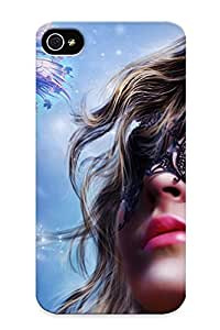 Ellent Iphone 4/4s Case Tpu Cover Back Skin Protector Masked Girl For Lovers' Gifts