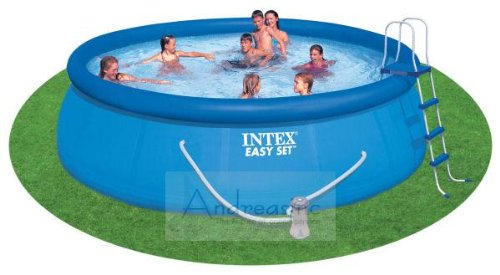 Tex 15 39 x 42 15 x 42 above ground swimming pool complete set by intex for Swimming pool applewood swords