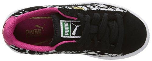 Puma 358854, Mädchen Sneakers Schwarz (black/beetroot Purple)
