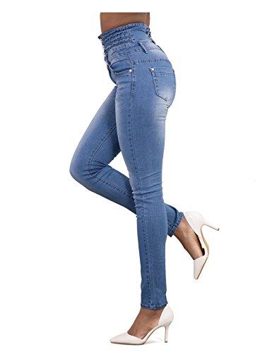 Legou Jeans Taille Femme haute Noir Large r5qrE