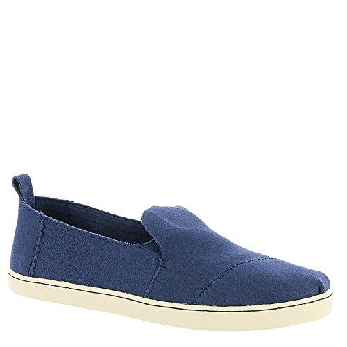 TOMS Women's Deconstructed Alpargata Suede Slip-On, Size: 7 B(M) US, Color: Cadet Blue Suede