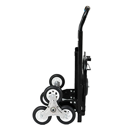 Happybuy Stair Climbing Cart 45 Inches Portable Hand Truck 2x Three-wheel Hand Truck Stair Climber 330LB Capacity Folding Stair Hand Truck Heavy Duty by Happybuy (Image #3)