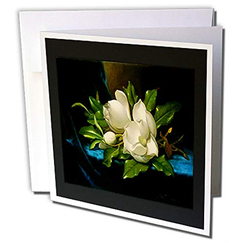 3dRose Image of Heades 1800S Painting Giant Magnolia Still Life Greeting Card (gc_237444_1)