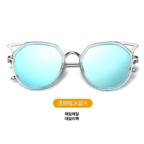 nouveau cycle des lunettes de soleil madame le visage rond korean rétro - yeux star des lunettes des lunettes de soleil la maréeboîte blanche (sac) o0tYhi