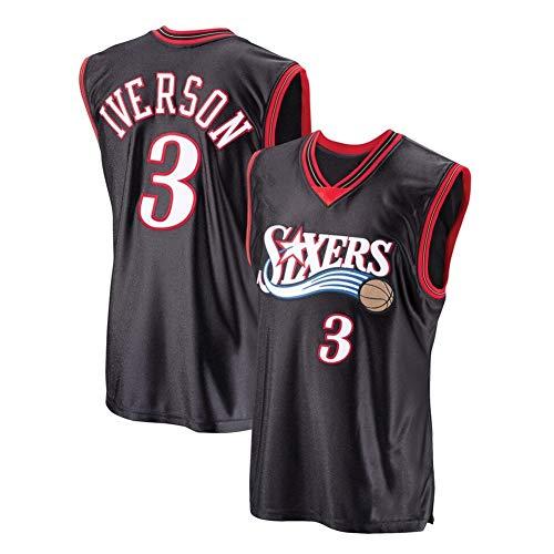 ANFFJersey Allen Iverson # 3 baloncesto de los hombres Jersey Sports Fan jerseys camiseta XXL UNA