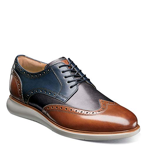 Florsheim Men's Fuel Wing Tip Oxford Cognac/Brown Sole 9 M US M (D)