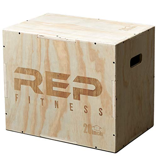 Rep 3 in 1 Wood Plyometric Box for Jump Training and Conditioning 24/20/16 (Best Exercises To Increase Vertical Jump)