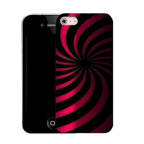 coque housse etui case cover apple iphone 4 et 4s - pink twirl dazzle