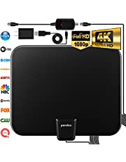 HDTV Antenna, 2020 Upgraded Indoor Digital TV Antenna 120 Miles Range with Amplifier Signal Booster,4K Ultra HD High Reception with USB Power Supply & Coax Cable