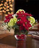 Mini Silk Poinsettia Arrangement - Red Sale