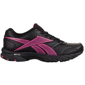 Reebok Women's Triplehall Leather Running Shoes Black Cosmic Berry (7)