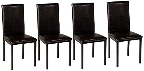 Homelegance 2601S Bi-Cast Vinyl Upholstered Dining Chair, Dark Brown, Set of 4 - Homelegance Dining Room Chair