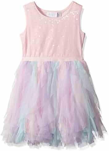 The Children's Place Baby-Girls' Her Li'l Sleeveless Cascade Dress