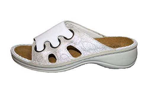 Naot, Zoccoli donna Bianco Weiß/Silber 36