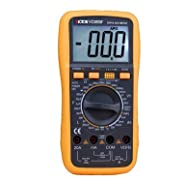 JMT VICTOR VC9808+ 3 1/2 Large LCD Digital Multimeter Temperature Inductance Frequency Ohm Voltmeter Meter