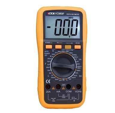 JMT VICTOR VC9808+ 3 1/2 Large LCD Digital Multimeter Temperature Inductance Frequency Ohm Voltmeter Meter