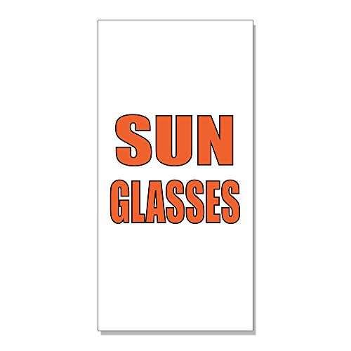 Sunglasses Promotion Business DECAL STICKER Retail Store Sign - 14.5 x 36 - Promotion Sunglasses