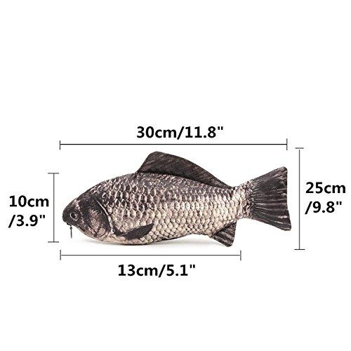 Caveen Fish Like Pencil Case Pen Box Holder Zipper Pouch Coin Purse Cosmetic Bag Photo #2