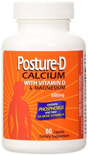 Posture-D Calcium 600 Mg Supplement with Vitamin D - 60 Tablets by Posture-d