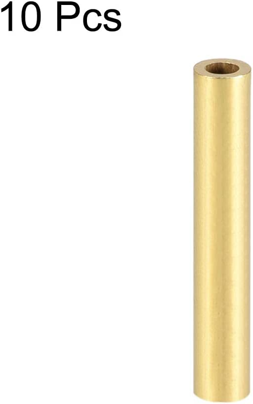 uxcell Brass Round Tube 10mm OD 1mm Wall Thickness 30mm Length Seamless Pipe Tubing for DIY Crafts 10 Pcs