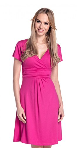 Glamour Empire Flattering Dress 108 - skater Mujer fucsia