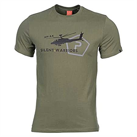 Pentagon T-shirt with helicopter motif
