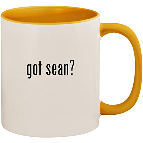 got sean? - 11oz Ceramic Colored Inside and Handle Coffee Mug Cup, Golden Yellow