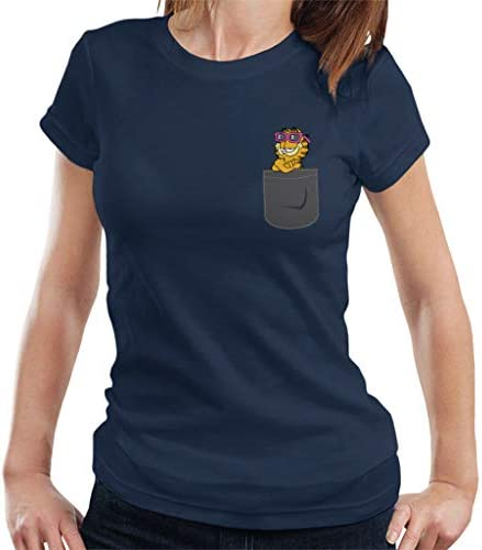 Garfield Pocket Print Women's T-Shirt: Odzież