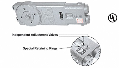 CRL Diamond Style Spindle Medium Duty 105 Degree No Hold Open Retrofit Overhead Concealed Closer Body Only - CRL7772