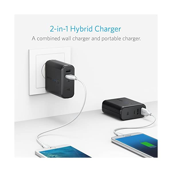 Anker-PowerCore-Fusion-Portable-Charger-5000mAh-with-Dual-USB-Wall-Charger-Foldable-Plug-and-PowerIQ-Battery-Pack-for-iPhone-iPad-Android-Samsung-Galaxy-and-More