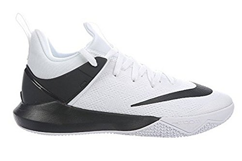 Nike Mens Zoom Shift Bianco / Nero Nylon Scarpe Da Basket 6,5 M Us