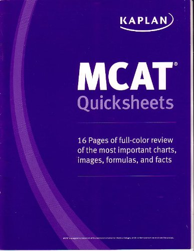 Kaplan mcat quick sheets