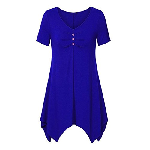 Women Stripes Long Sleeve V-Neck Bottons Slim Casual Dress XL - - 2