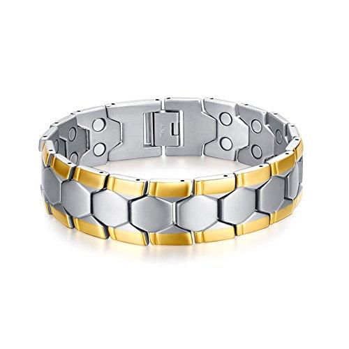 Titanium Magnetic Therapy Link Bracelet Negative Ion Germ...