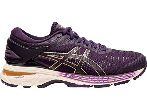 ASICS Women's Gel-Kayano 25 Running Shoes, 7M, Night Shade/Cream
