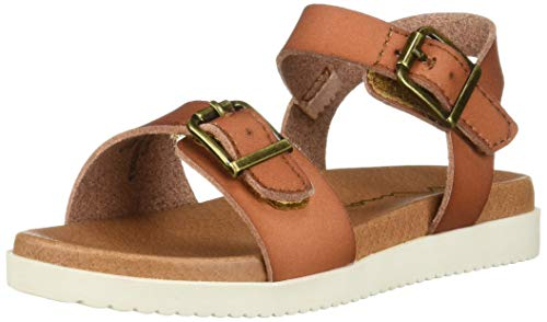 NINA Girls' jacklin3 Sandal Light tan 9 Medium US Toddler
