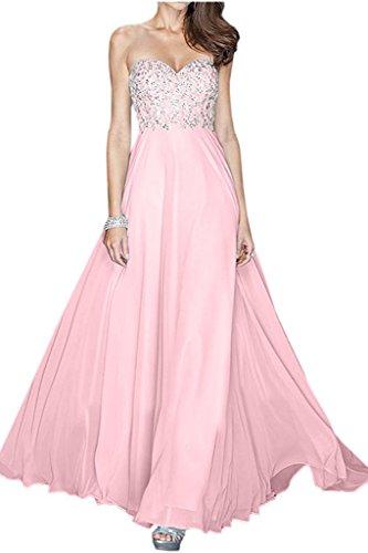 Chiffon Damen Marie La Abendkleider Pailletten Rosa Jugendweihe Braut Langes mit Abschlussballkleider Kleider qxCIRw