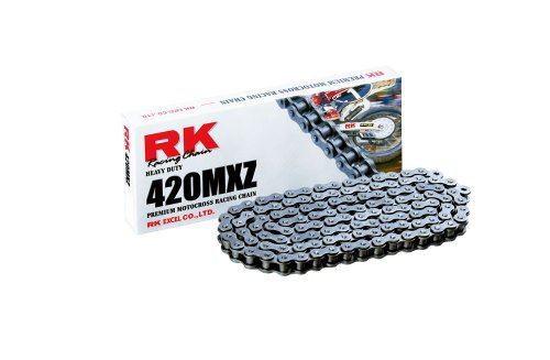 RK Racing Chain 420MXZ-84 Steel 84-Links Heavy Duty Chain with Connecting Link
