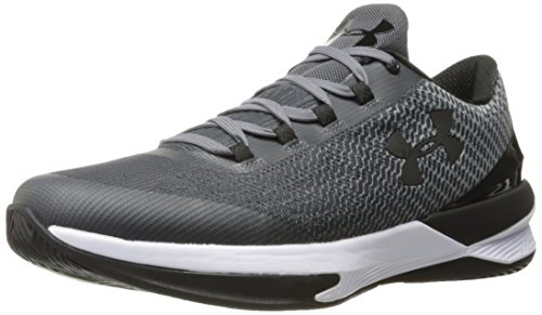 Under Armour Men's Charged Controller Basketball Shoe, Rhino Gray (076)/Black, 11