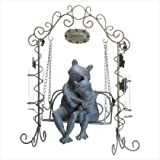 Loving Frogs Bench Swing Bud Vases Home Garden Figure