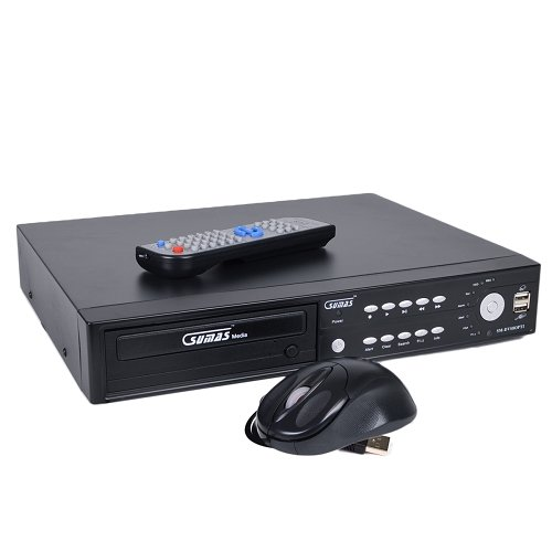 Sumas Media SM-DVS8OPTI 8 Channel Network DVR System with Remote Access & DVDRW by Sumas