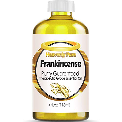 - Heavenly Pure Frankincense Essential Oil 100% Pure & Natural Frankincense Aroma Therapeutic Grade Essential Oil (Huge 4 OZ - Bulk Size) with Dropper, 6L