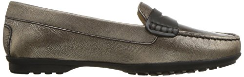 Geox Women's Elidia 5 Slip-on Loafer, Champagne/Anthracite, 35 EU/5 M US by Geox (Image #7)