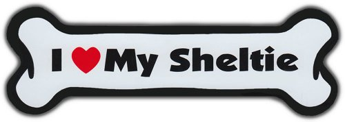 Dog Bone Magnet - I Love My Sheltie (shetland Sheepdog) - Cars, Trucks, Suvs, Refrigerators Picture