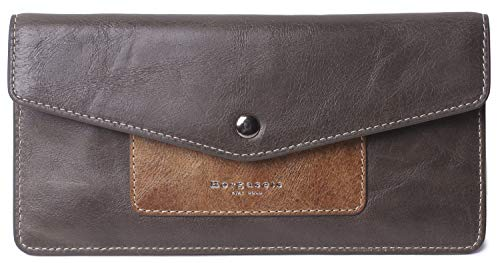 Ultra Thin Envelope - Borgasets Women's Wallet Leather RFID Blocking Ultra-thin Envelope Ladies Purse Travel Clutch with ID Card Holder and Phone Pocket (Khaki)