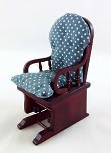 Mecedora Victoriana de Caoba en Miniatura para Casa de Muñecas Mobiliario Salón de Estar