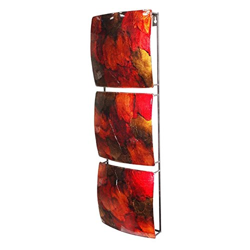 Heather Ann Creations 3 Square Panel Design Modern Decorative Wall Panel Art, 8
