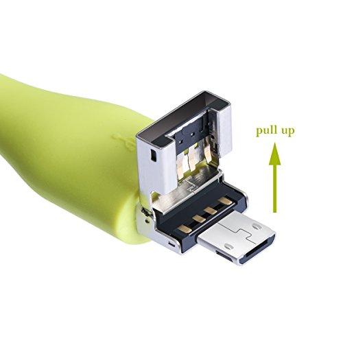 Benks USB teléfono Ventilador Green for android(2 sides) USB + Micro USB